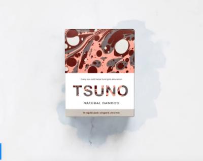 TSUNO Regular Pads - فوط صحية بالأجنحة