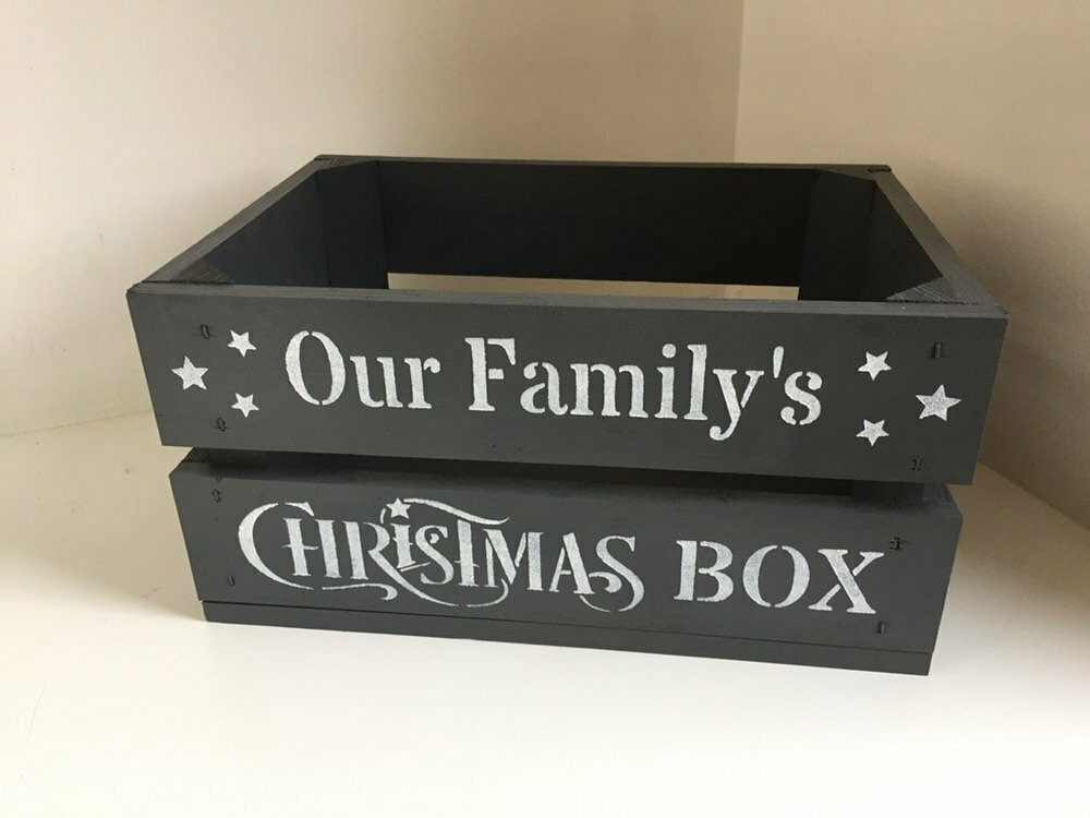 Small Christmas Box Crate Christmas Hamper crate