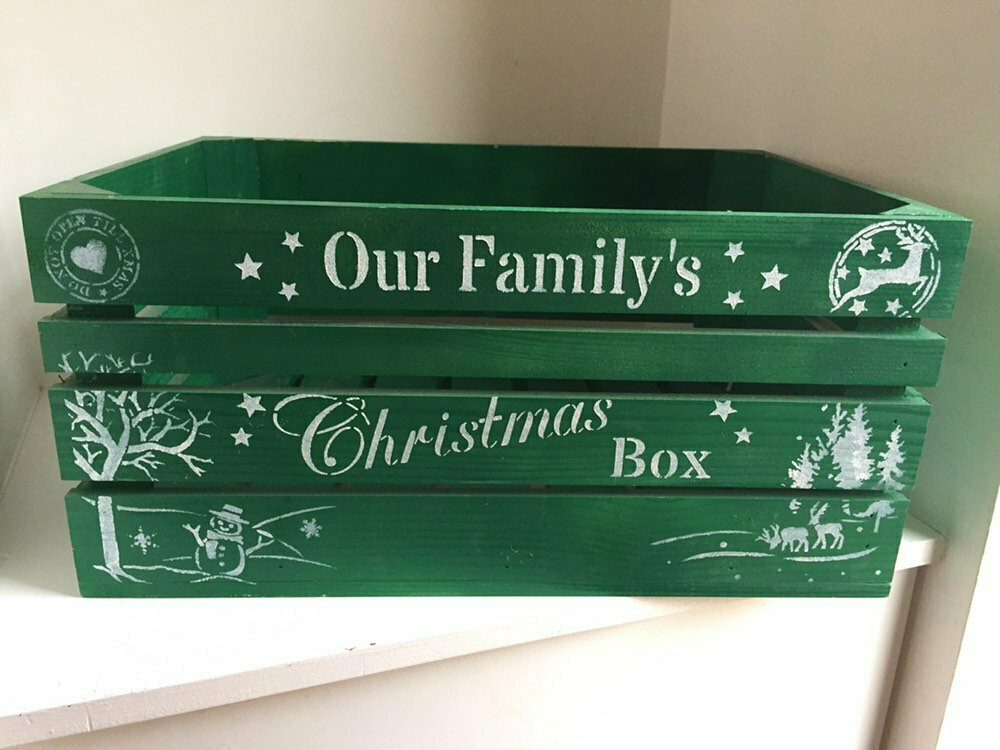 Large Christmas Box Crate