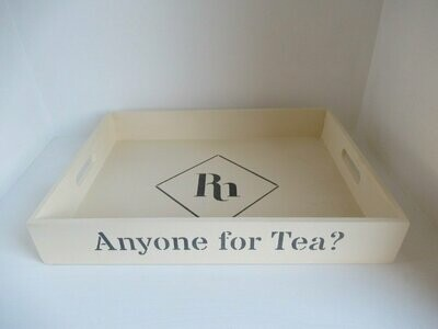 Anyone for Tea? decorative  shabby chic wooden tray  Free UK P&P
