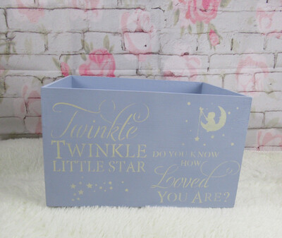 Baby Shower newborn bespoke personalised shabby chic keepsake gift medium box