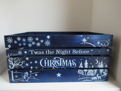 Twas the Night Before Christmas Personalised Christmas Crate Box