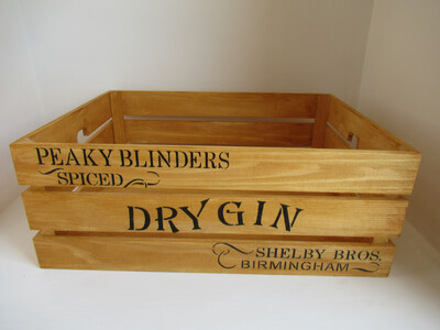 Rustic Peaky Blinders Themed wooden crate decorative shabby chic wooden storage display crate shabby chic home decor box