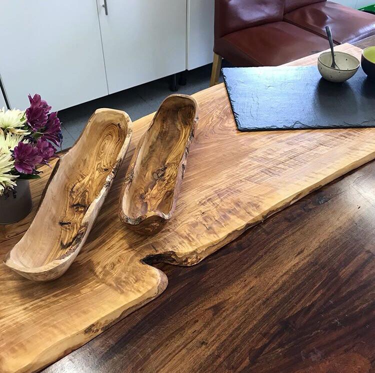 Live edge bespoke 1m  Olive wood platter