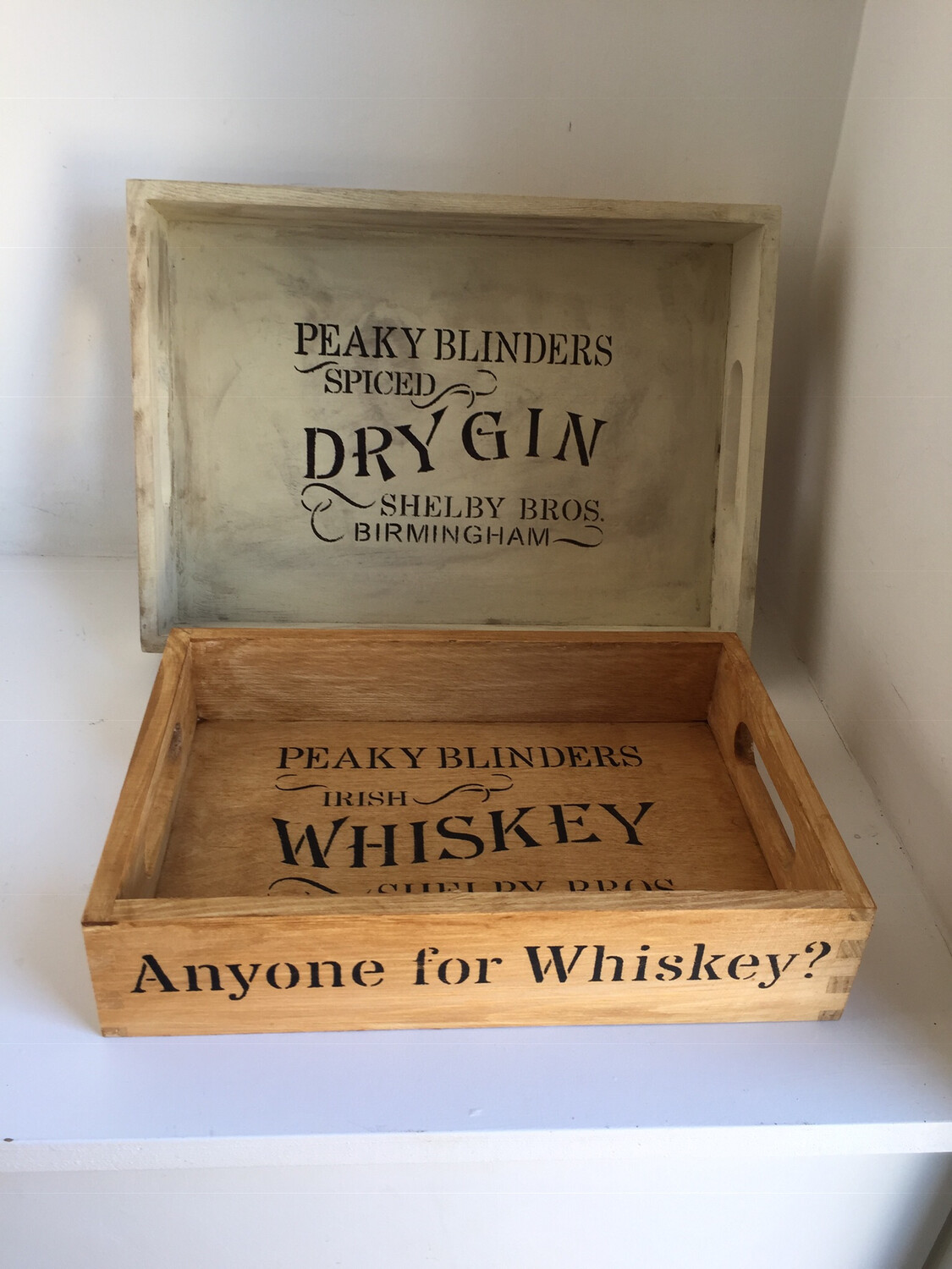 Peaky Blinders decorative shabby chic wooden tray  Free UK P&P