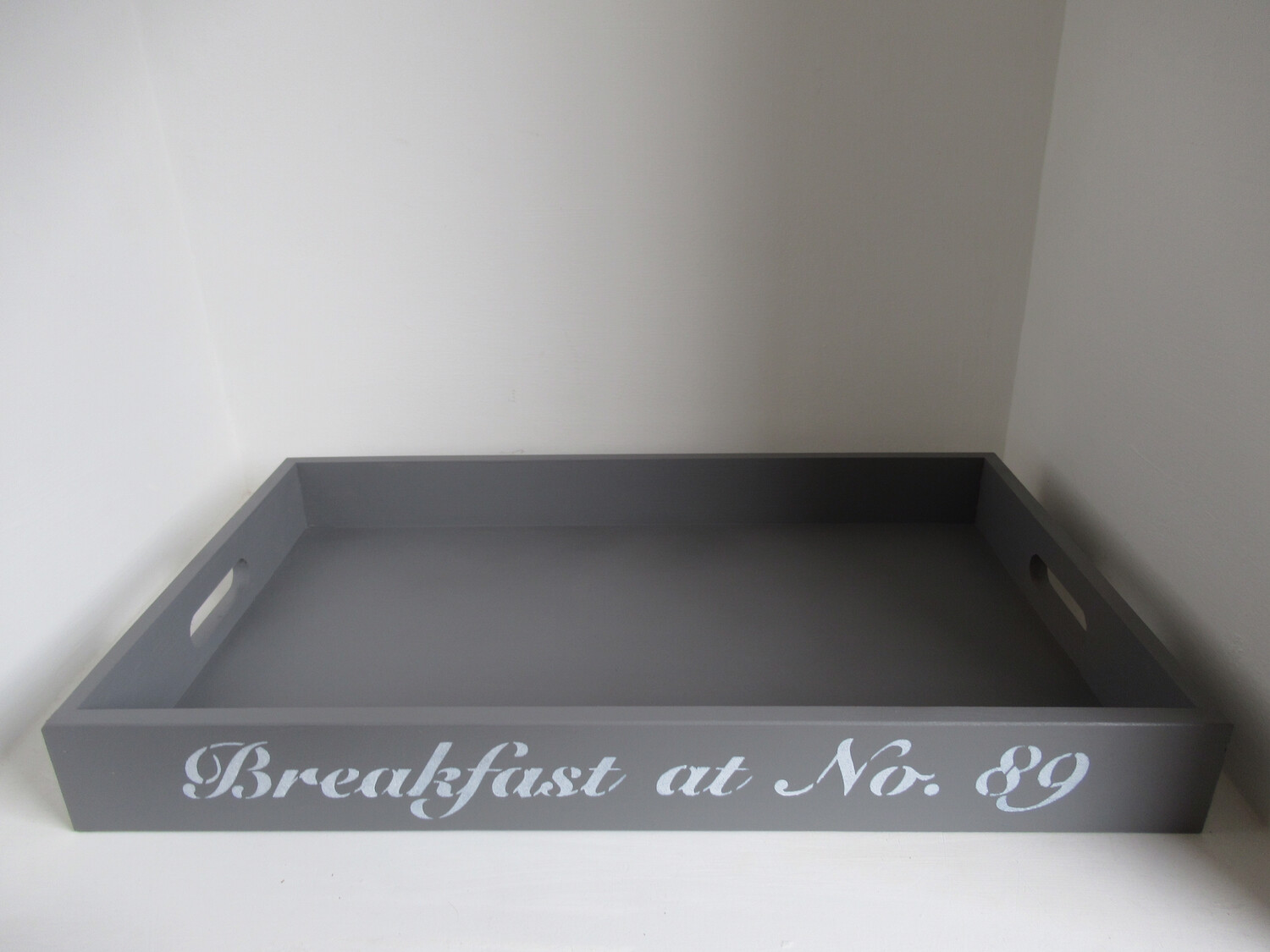 Personalised Breakfast Tray decorative  shabby chic wooden tray  Free UK P&P