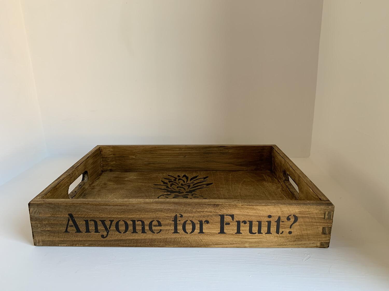 Anyone for Fruit?  decorative shabby chic wooden tray  Free UK P&P