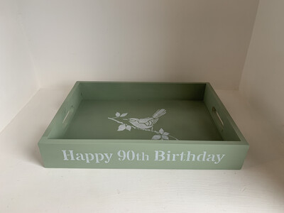 Happy Birthday Personalised Unique Wooden Drink Tray  Free UK P&P
