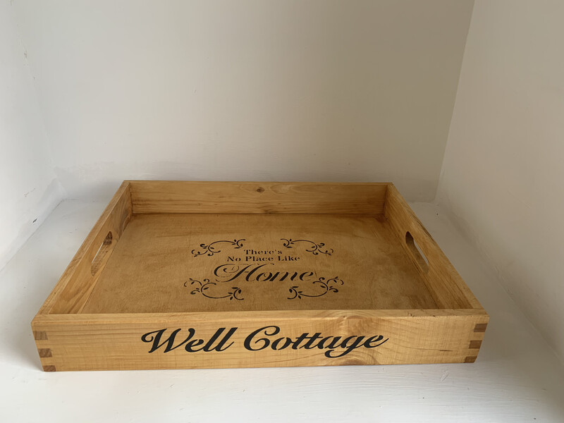 Create your own Bespoke Personalised Unique Wooden Drink Tray  Free UK P&P