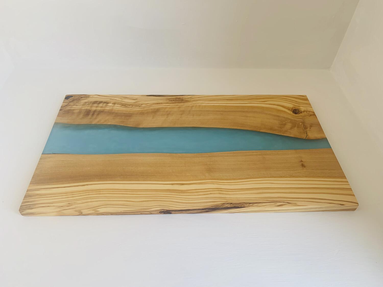 Epoxy Resin Board   Handcrafted River Board, Cutting board, Wooden Serving Board wood platter serving board