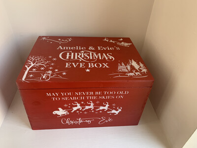 Large Lidded Christmas Eve box