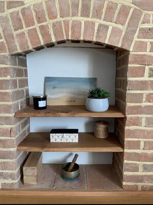 Live Edge Pippy Oak rustic solid wood Shelf floating shelf