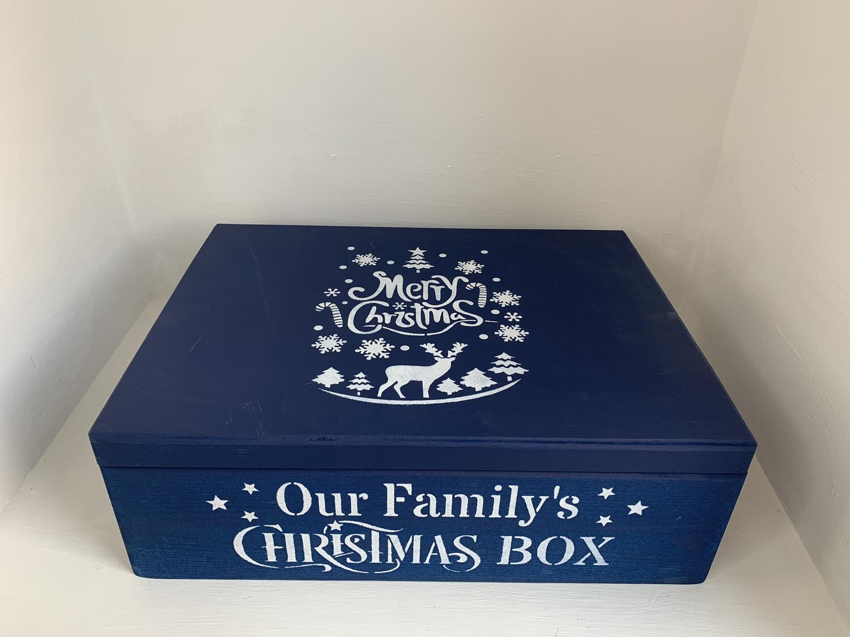 Medium Lidded Christmas box