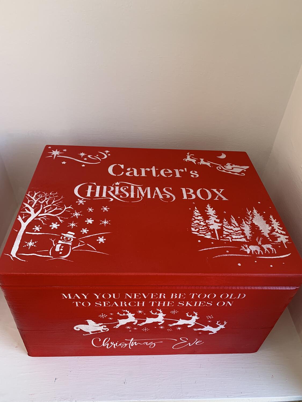 Large Lidded Christmas box