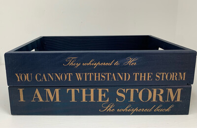 I Am the Storm chic Set Of wooden trays  Free UK P&P