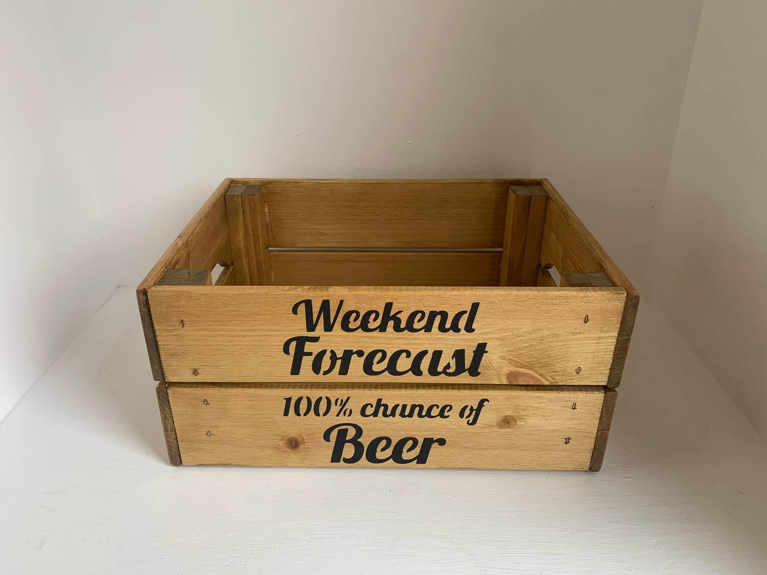 Dad's Beer crate personalised beer crate Fathers Day gift decorative shabby chic wooden tray Free UK P&P