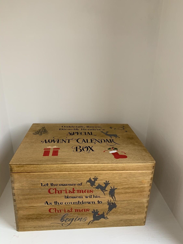 Large Lidded Advent Calendar box