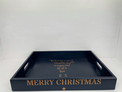 Merry Christmas decorative shabby chic wooden drinks tray