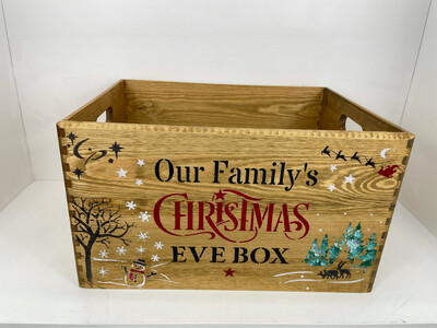 Large Wooden Christmas box Or Christmas Eve Box