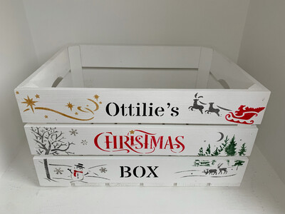 Large White Christmas Eve or Christmas Box Crate