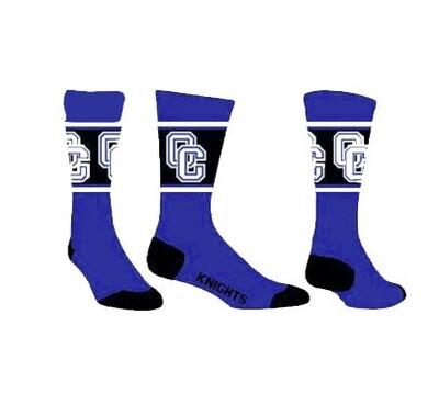 Royal/White/Black Side OC (Ladies/Youth) Socks Intermediate