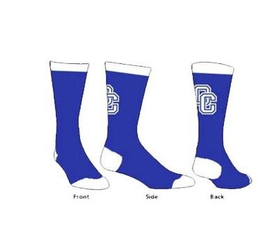 Royal/White Side OC Socks Adult 6-9