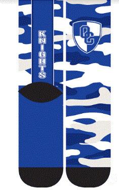Camo Knights Socks L/XL