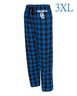 Boxercraft - Adult Flannel Pants With Pockets Royal/Black Buffalo 3XL