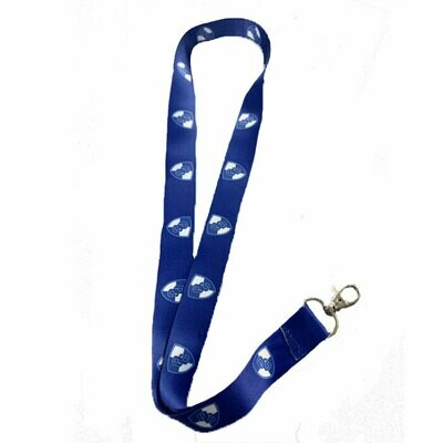 Royal Blue Lobster Claw Clip Lanyard