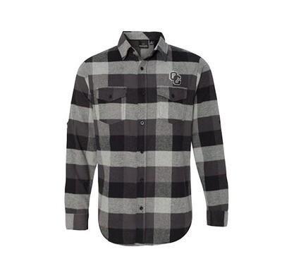 Burnside - Large Men's Yarn-Dyed Long Sleeve Flannel Shirt