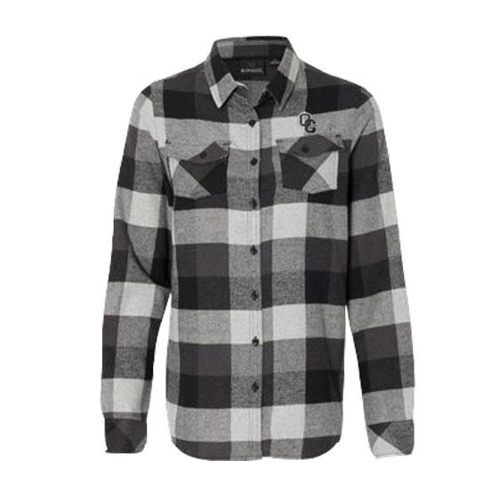 Burnside - Women's Yarn-Dyed Long Sleeve Flannel Shirt XL