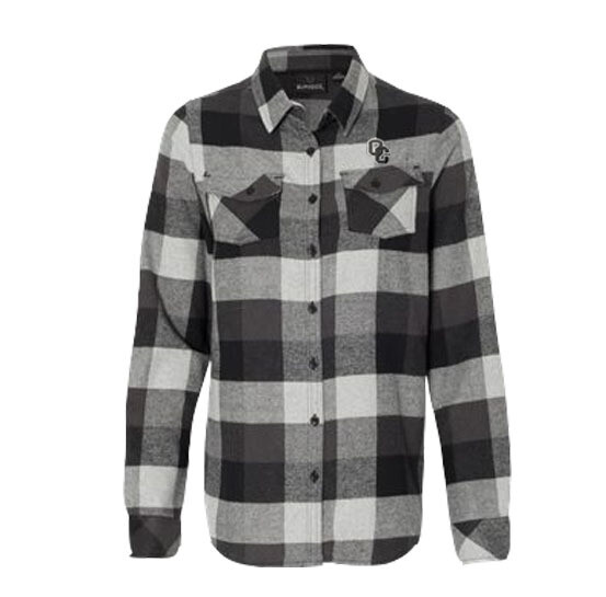 Burnside - Women's Yarn-Dyed Long Sleeve Flannel Shirt Large