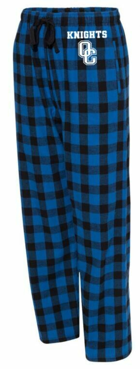 Boxercraft - Adult Flannel Pants With Pockets Royal/Black Buffalo XL