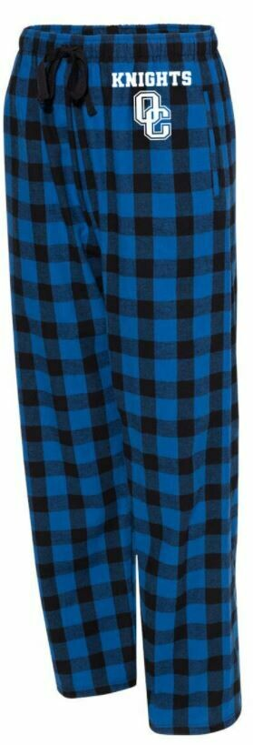 Boxercraft - Youth Flannel Pants with Pockets Royal/Black Buffalo Large