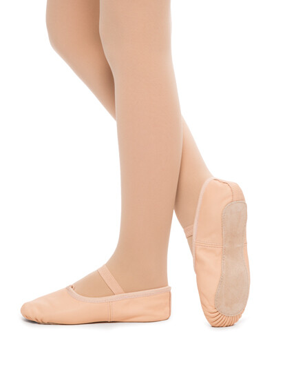 Classic Pink Leather ballet shoe