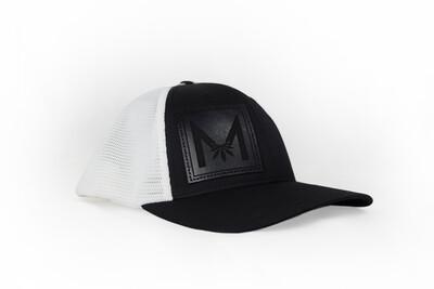 Millia Snapback Hat | Black Leather