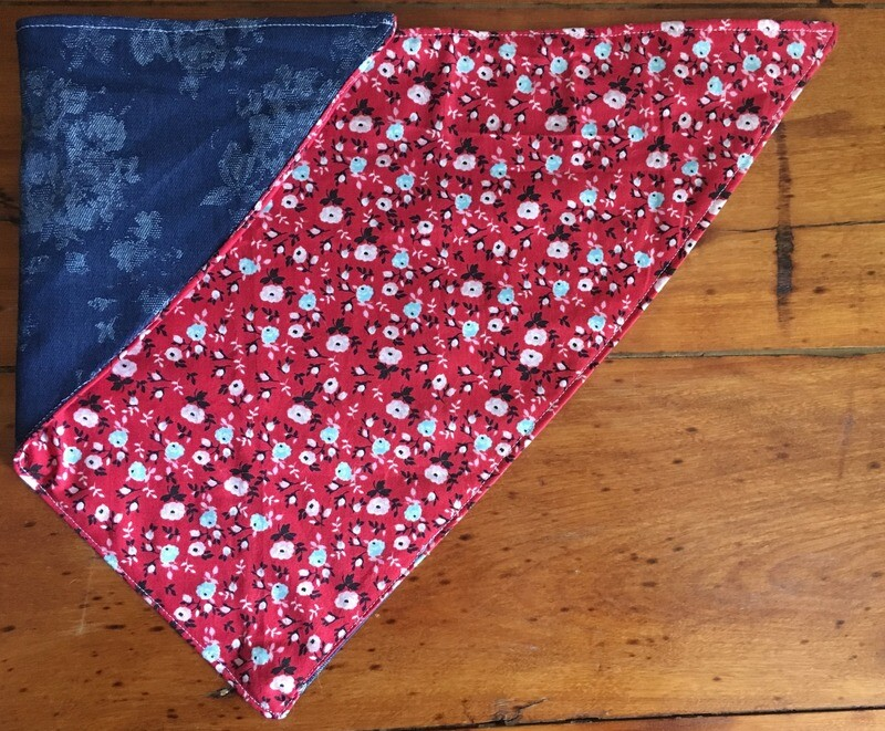 A Floral Fourth Tie-on Bandanna