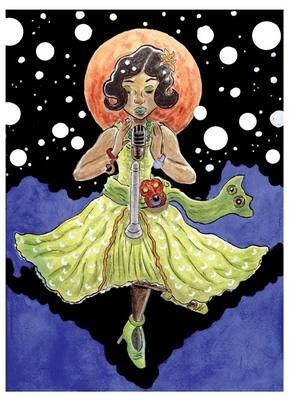 """""""Moonlit Singer"""" Print, Multiple Sizes"""