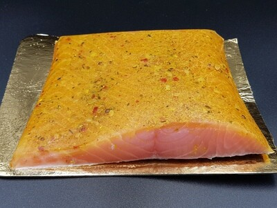 RO Pastrami smoked Salmon - Three pieces of 3-400g each (total approx 1kg)