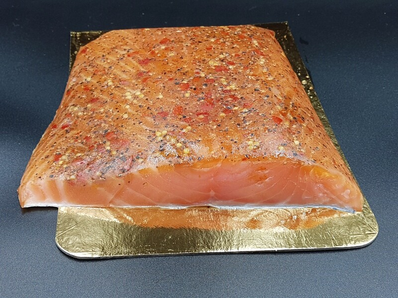RO Smoked salmon with Spices - Three pieces of 3-400g each (total approx 1kg)