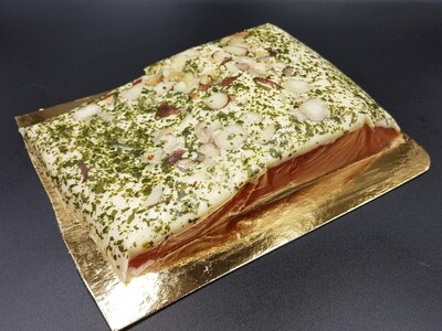 RO Cognac marinated salmon with Cheese spread - 3 pieces (approx 1kg)