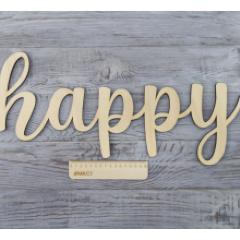 Слово happy, 50x20 см