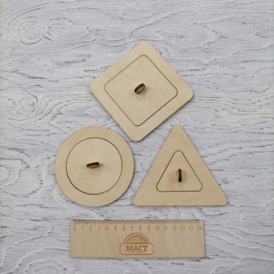 Бизиборды геометрические фигуры фанера 4мм