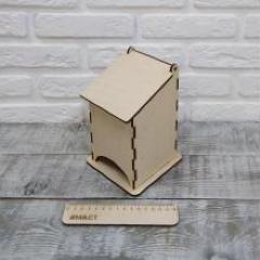 Чайный домик фанера 4, 10х10х17 см