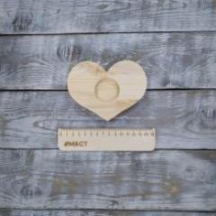 Подсвечник сердце, 13х10 см