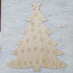 Адвент календарь елка 48х40 см