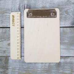 Деревянный планшет с зажимом, 12х18 см