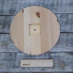 Деревянный циферблат, 25 см