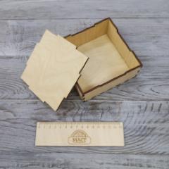 Коробочка со съемной крышкой, 12х12х5 см