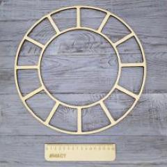 Циферблат засечки, 35 см фанера 4